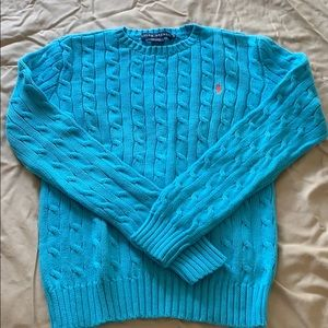 Ralph Lauren cotton cable pull over sweater Sz S
